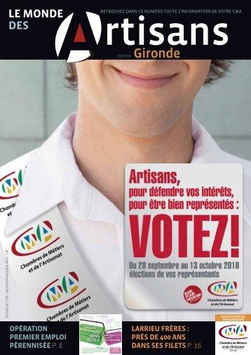 N°78 septembre 2010 - Chambre de métiers et de l'artisanat