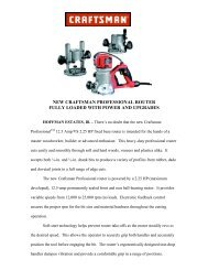 new craftsman professional router fully loaded with power and ...