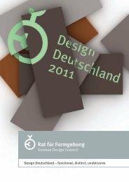 können Sie die Broschüre Design Deutschland 2011 herunterladen
