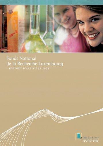 Rapport d'activités 2004 - FNR