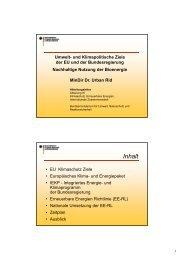 Nachhaltige Nutzung der Bioenergie - EMAS