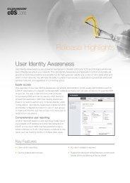 Clavister User Identity Awareness Release Highlights