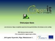 Diskusijas tēzes - Rīgas enerģētikas aģentūra