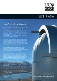 UC in Profile - Communications - University of Canterbury