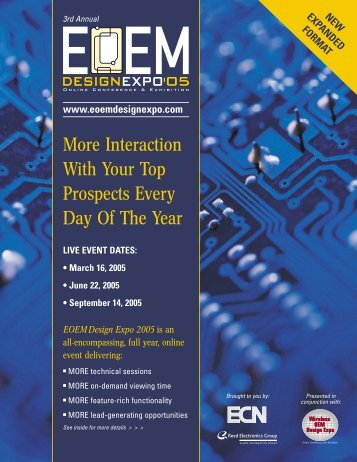 Download EOEM Design Expo 2005 Sales Prospectus - Advantage ...