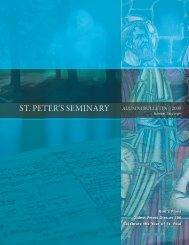 St. Peter'S Seminary alumni Bulletin | 2009