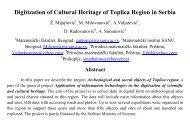 Digitization of Cultural Heritage of Toplica Region in Serbia - SEEDI