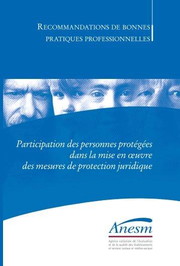 Participation des personnes protégées dans la mise en ... - Anesm