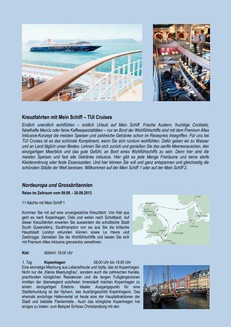 Kreuzfahrten mit Mein Schiff – TUI Cruises Nordeuropa und ...