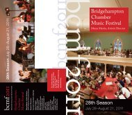 bcmf 2011 - Bridgehampton Chamber Music Festival