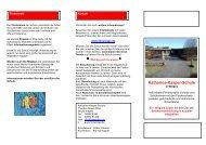 Flyer über die Schule - Katharina-Kasper-Schule