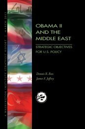 obama ii and the middle east - The Washington Institute for Near ...