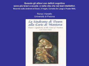 Università di Parma 28 marzo 2009 Sindrome di Down: deficit e ...