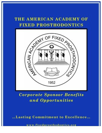 Please click here for our corporate sponsor brochure - American ...