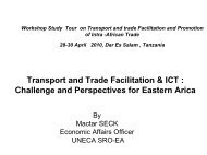 Transport and Trade Facilitation & ICT : Challenge and ... - MCLI
