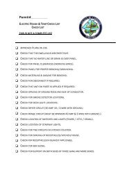 Electrical Checklist