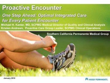 Proactive Encounter One Step Ahead