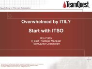 Overwhelmed by ITIL? - TeamQuest