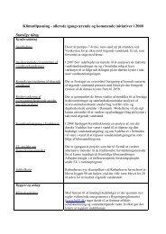 Liste over igangværende og kommende tiltag på ... - Klimatilpasning