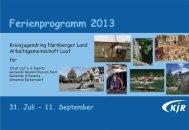 gehts zum PROGRAMM (31. Juli - 11. September 2013) - Gemeinde ...