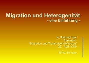 Migration und Heterogenität