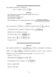 h(x) - Concours ENSEA