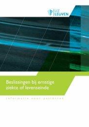 Beslissingen bij ernstige ziekte of levenseinde - UZ Leuven