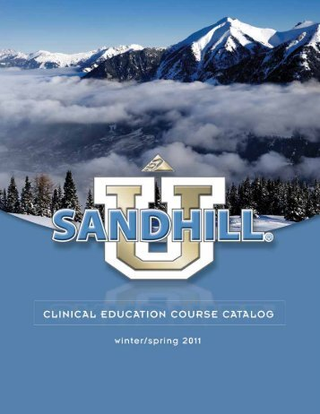 Table of Contents - Sandhill Scientific