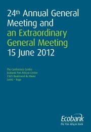 24th Annual General Meeting and an Extraordinary ... - Ecobank