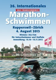 Ausschreibung 2013 - Sri Chinmoy Marathon Team - Schweiz