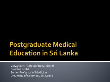 The Collaboration Between PGIM,Sri Lanka and RCP,UK