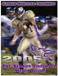 2005 Media Guide - Kansas Wesleyan University Athletics