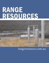 rangeresources.com.au - The International Resource Journal