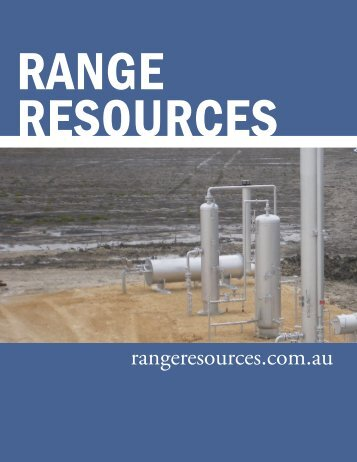 rangeresources.com.au - The International Resource Journal