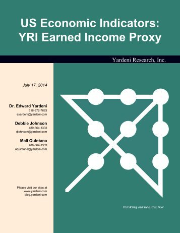 YRI Earned Income Proxy - Dr. Ed Yardeni's Economics Network
