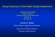 Conference PPT (238 KB) - Institute for Oral Health