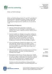 Høringssvar om udkast til restaurationsplan - Indre By Lokaludvalg ...
