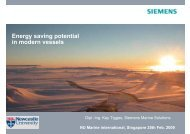 Energy saving potential in modern vessels - Siemens