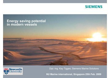 Energy saving potential in modern vessels - Siemens