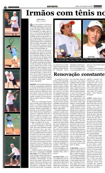 Irmãos com tênis no - Jornal dos Lagos