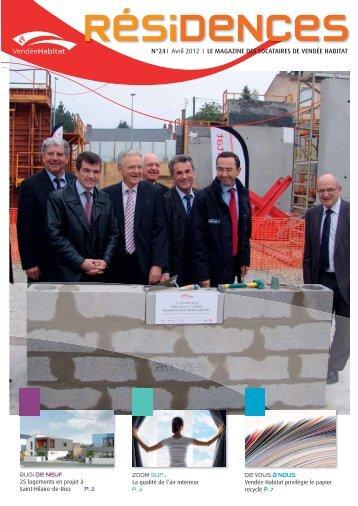 RESIDENCES n°24_Avril 2012.pdf - Vendée Habitat
