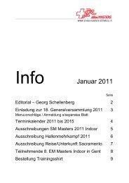 INFO - Swiss Masters Athletics
