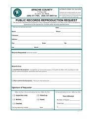 Public Records Request Form - Apache County
