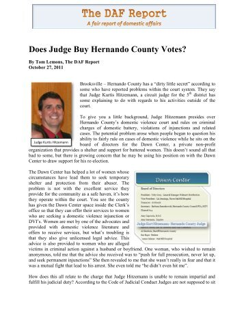 Does Judge Buy Hernando County Votes? - False DVI Reports