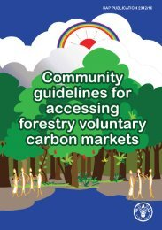 Community guidelines for accessing forestry voluntary carbon ... - FAO