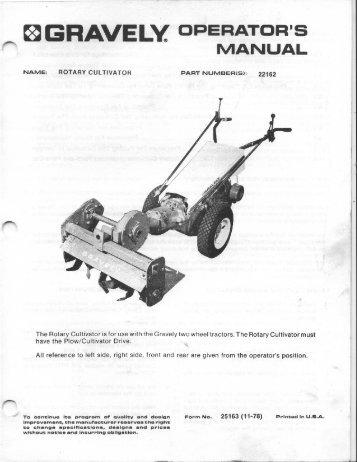 pro g service manual 01 tif gravely tractor club rh yumpu com old gravely tractor manuals gravely tractor repair manual