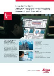 Leica Geosystems ATHENA Program for Monitoring Research and ...