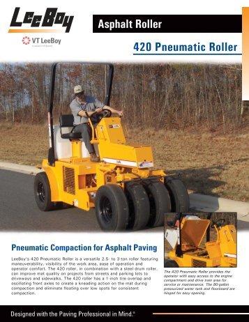 420 Pneumatic Roller - LeeBoy
