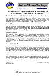 Bericht zu den 15. Schweizer Interclub-Meisterschaften im ... - RTCA