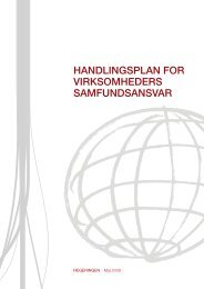 HANDLINGSPLAN FOR VIRKSOMHEDERS SAMFUNDSANSVAR ...